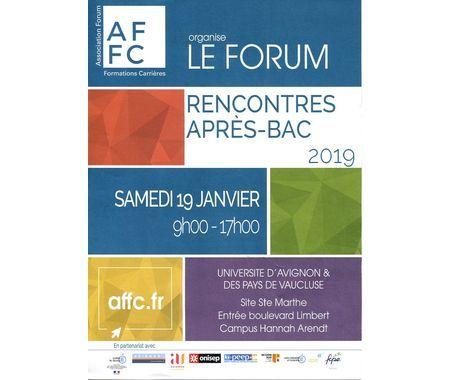Samedi 19 janvier à l'Université d'Avignon