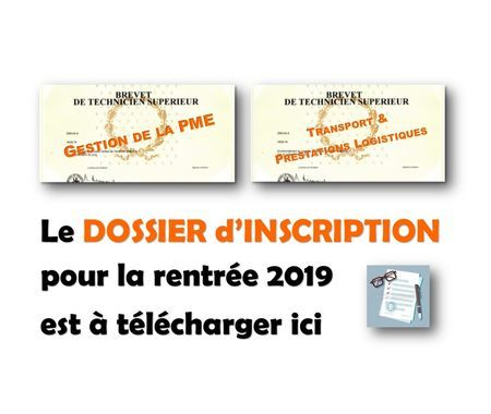 BTS > INSCRIPTION/RE-INSCRIPTION