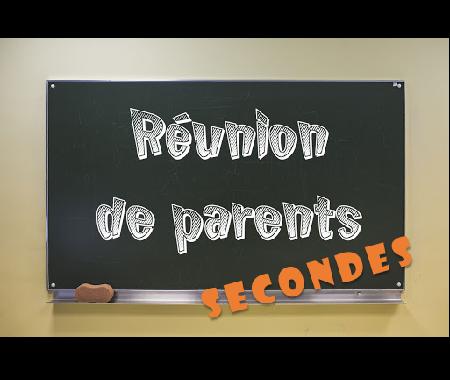 Lundi 18 et Mardi 19 octobre de 16h à 20h : Réunion parents-professeurs Secondes