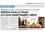 21 septembre : convention de partenariat signée avec Initiative Cavare et Sorgue